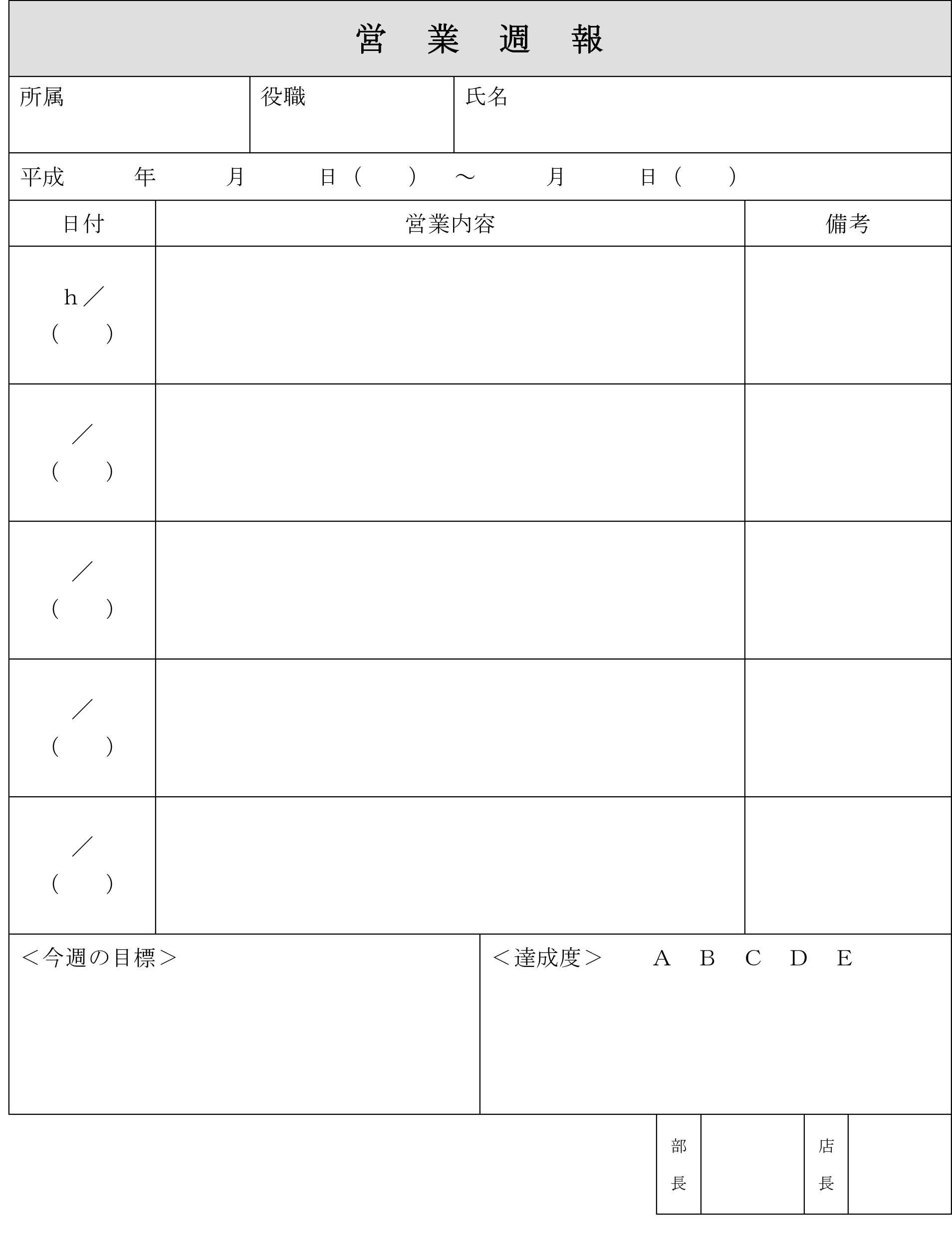 営業週報01