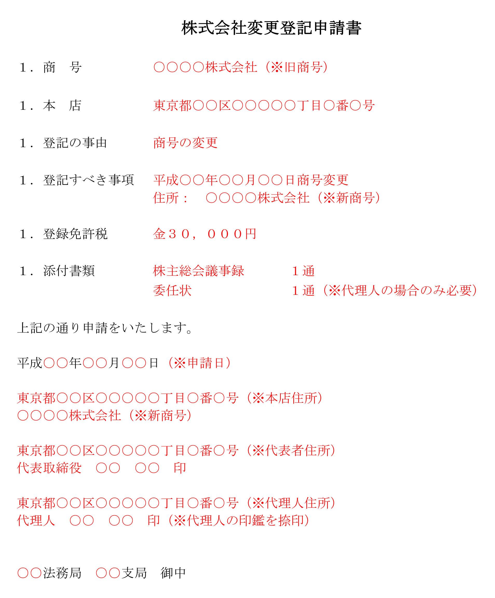 登記申請書(商号変更)01