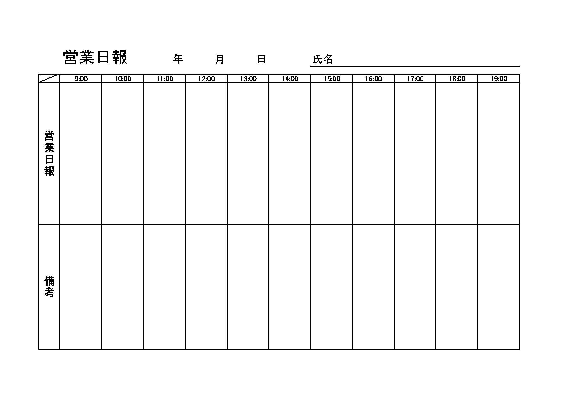 営業日報10