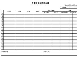 月間新規訪問報告書02