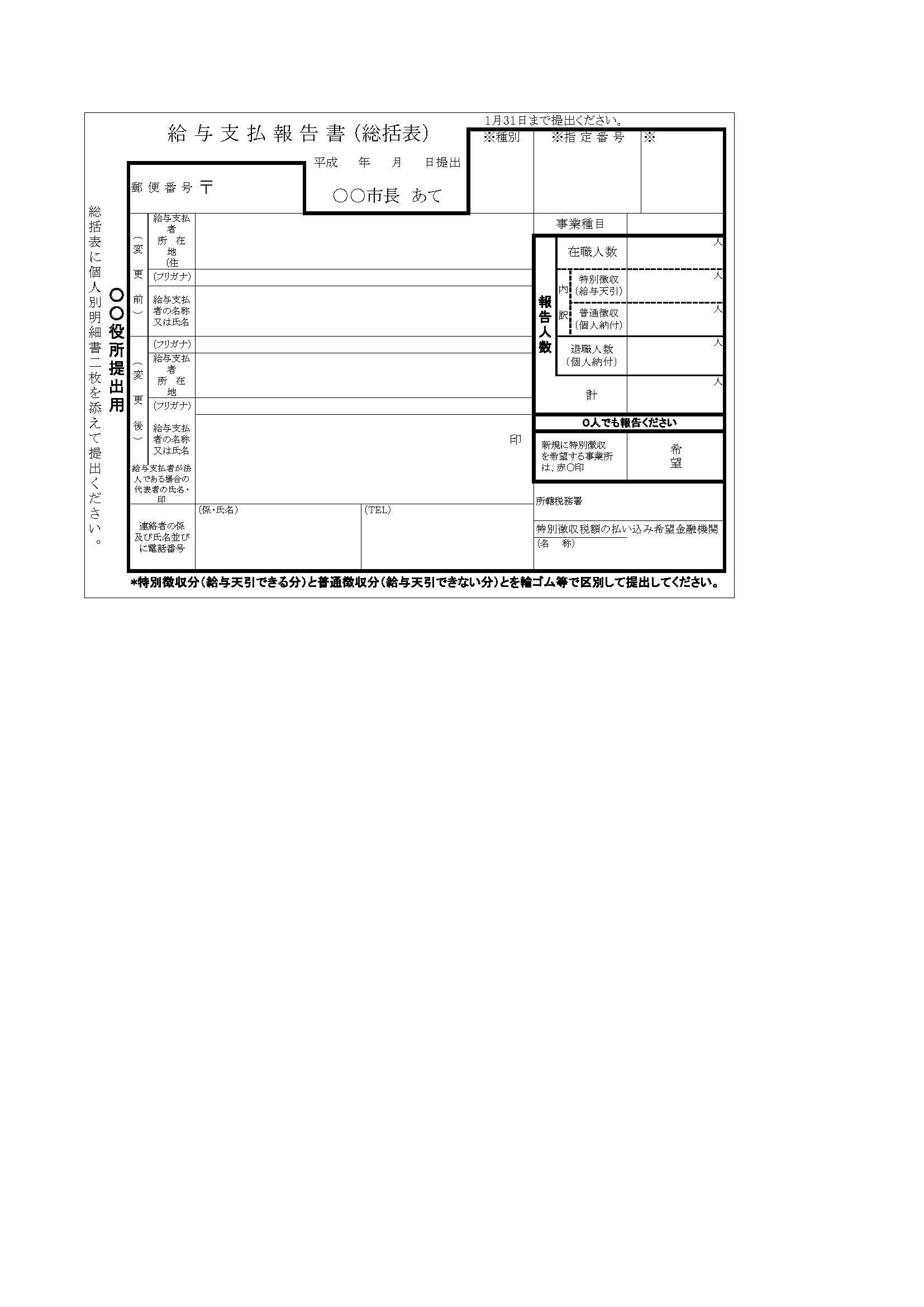 給与支払報告書