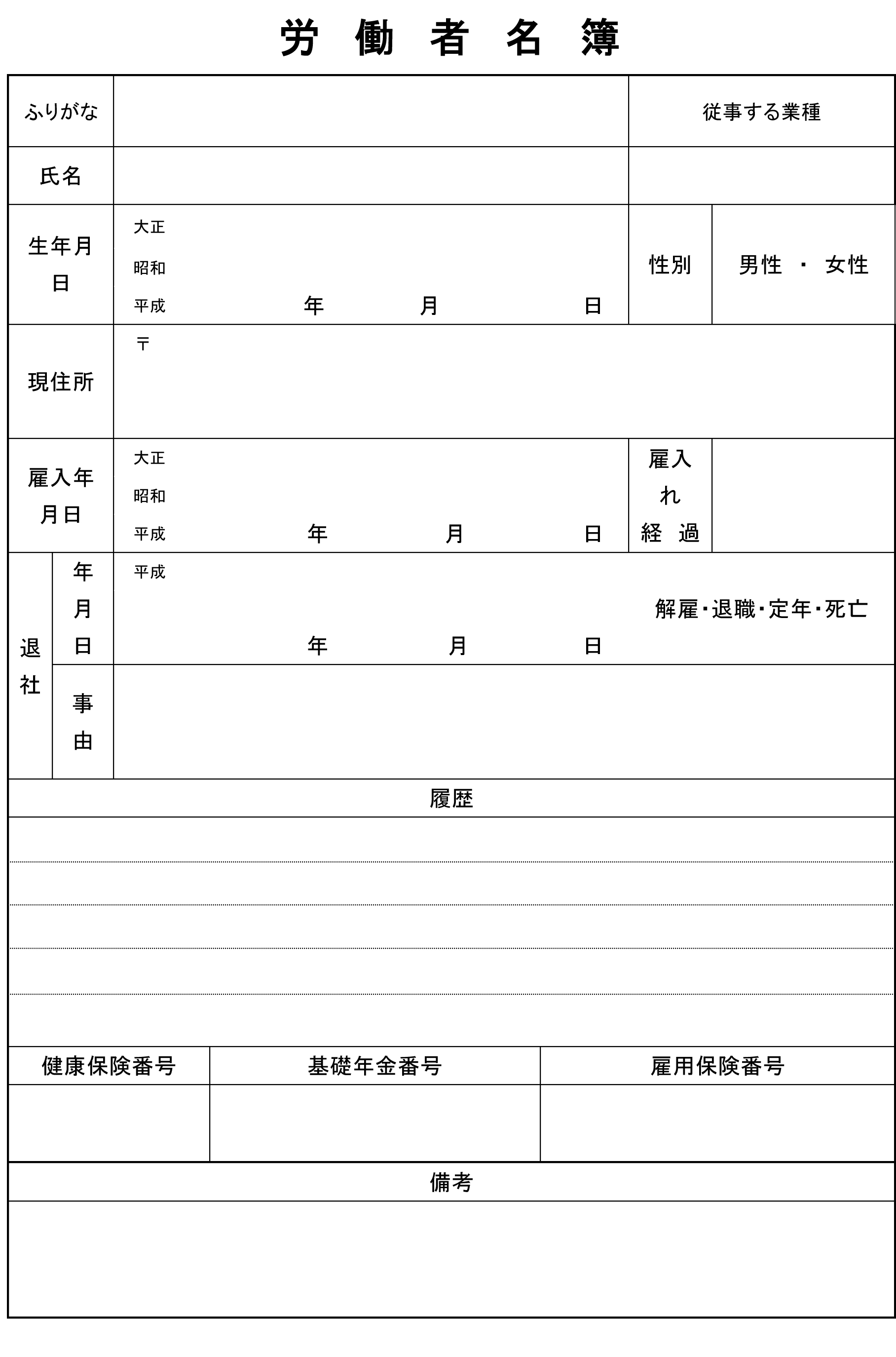 労働者名簿06労働者名簿06