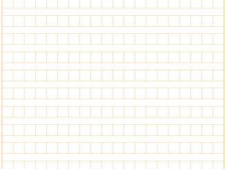 原稿用紙(400字横書きA4縦)