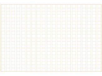 原稿用紙(400字縦書きB5横)のテンプレート書式