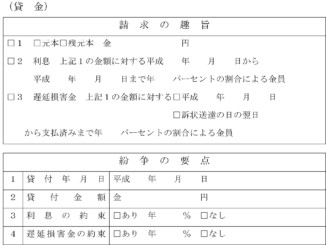 請求書(貸金)のテンプレート書式