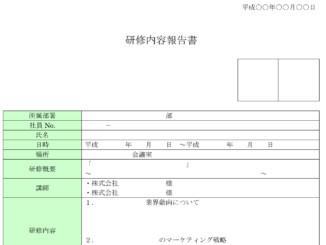 研修内容報告書