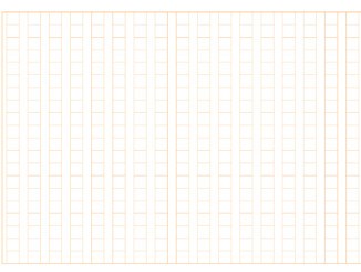 原稿用紙(400字縦書きB4横)のテンプレート書式