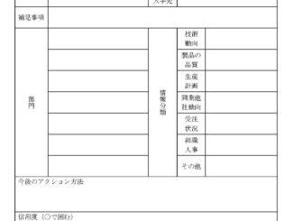 顧客情報管理書のテンプレート書式