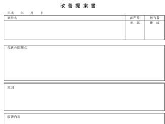 改善提案書のテンプレート書式