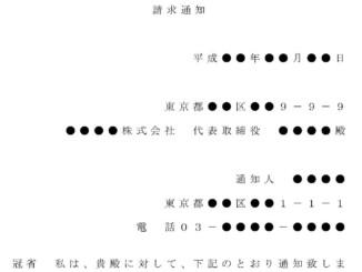 内容証明(株式買取の請求)のテンプレート書式