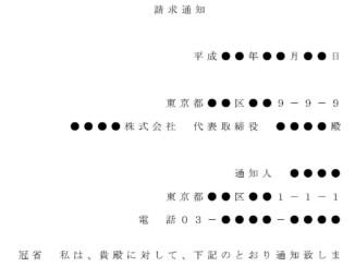 内容証明(株式譲渡の請求)のテンプレート書式