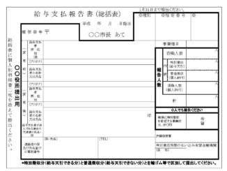 給与支払報告書のテンプレート書式