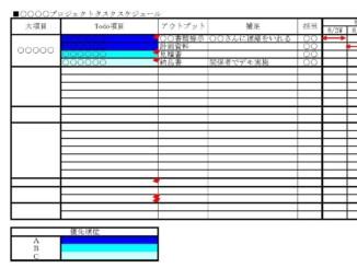 プロジェクトスケジュール表のテンプレート書式