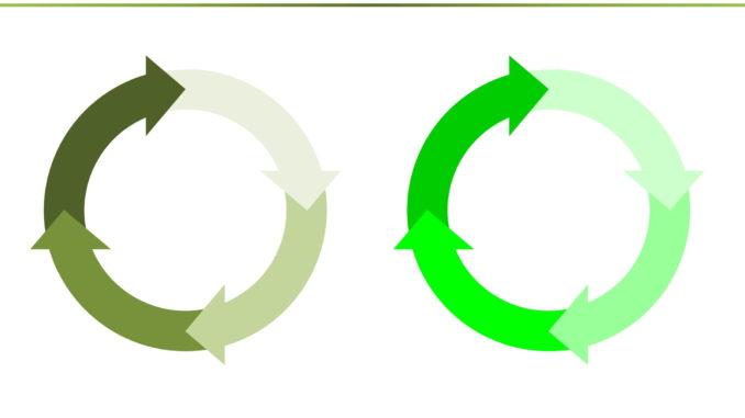 会員登録不要で無料でダウンロードできるオートシェイプ(循環サイクル03)のテンプレート書式