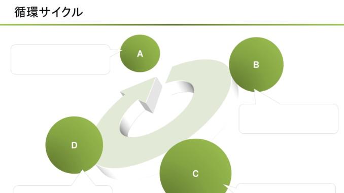 会員登録不要で無料でダウンロードできる循環サイクル02のテンプレート書式