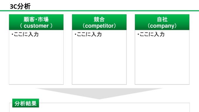 会員登録不要で無料でダウンロードできる3C分析02のテンプレート書式