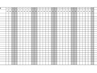 月間スケジュールのテンプレート書式